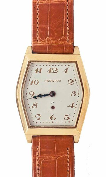 John Harwood first automatic men's watch