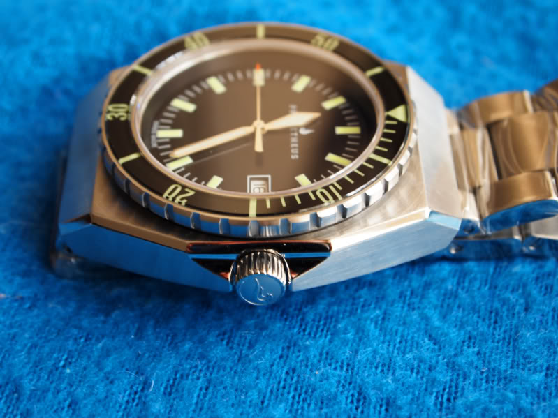 Prometheus Trireme Swiss Made Automatic Diver Watch Sapphire Bezel with Black Dial Sword Hands