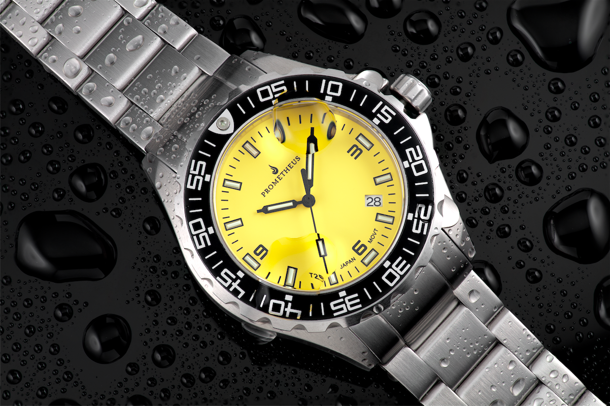 invicta itm yellow men mens new grand s steel dial watches stainless diver watch automatic ebay