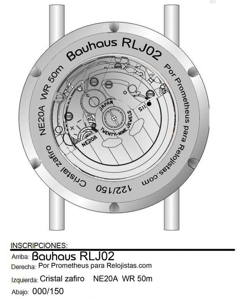 Prometheus RLJ02 Bauhaus Watch Project for Relojistas.com caseback