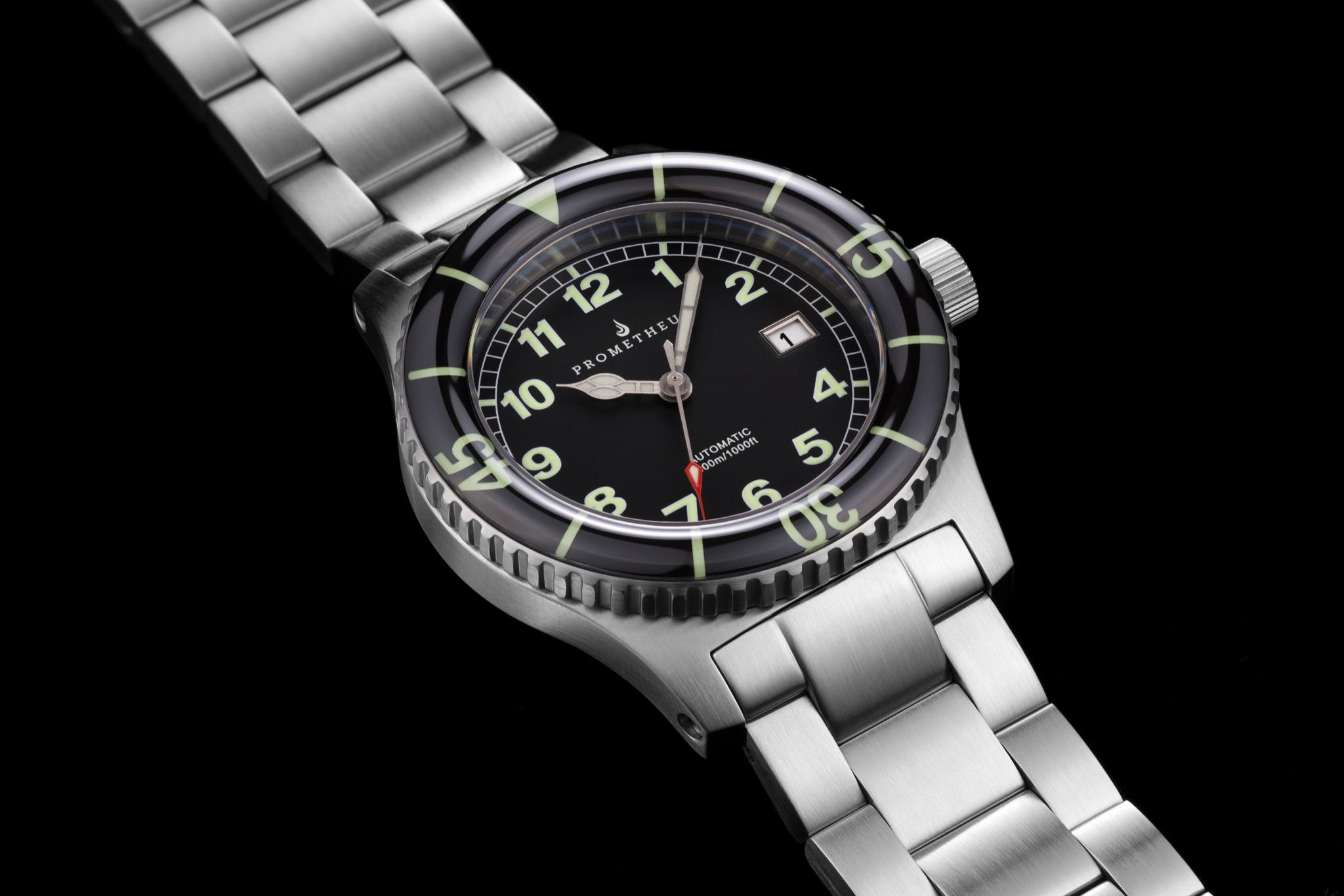 new glycine swiss made p sapphire automatic crystal s ss blasted combat watch sand watches