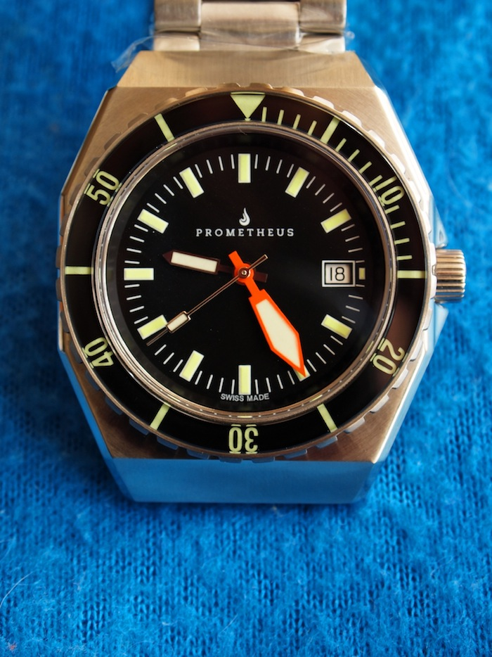 Swiss Made Prometheus Trireme 300m Diver Watch with Sapphire Bezel
