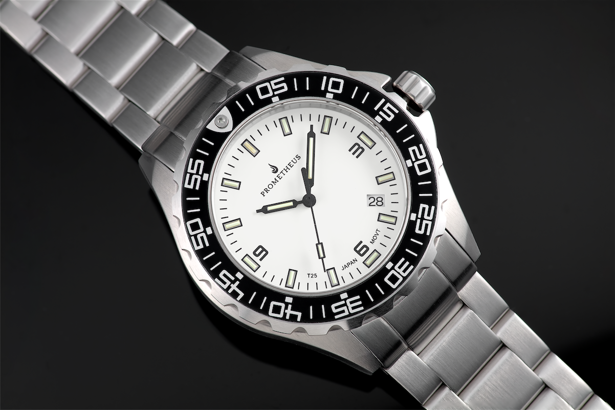 Prometheus Watch Company Jellyfish Diver Automatic Mens Diver White Dial