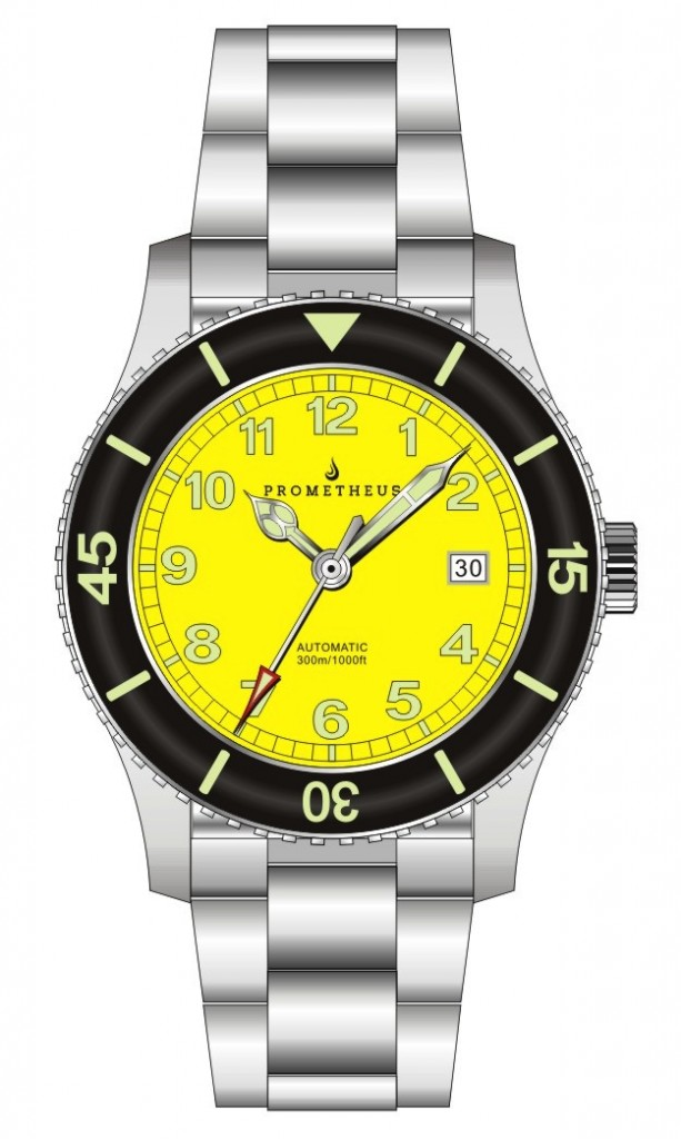 Prometheus Sailfish Yellow Dial with Seiko Time Module NH36/4R36 movement