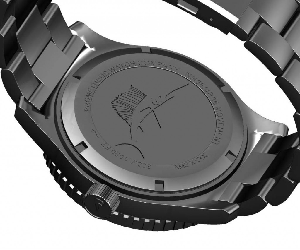 The Prometheus Sailfish is the latest automatic diver watch collection of Prometheus Watch Company and pays a tribute to the Sailfish the fastest living sea creature in the world with recorded speeds of up to 110 Km/h / 68mph.  The design of the Prometheus Sailfish is inspired in designs that have now more than 70 years old as the Longines HS watch worn by British forces during Second World War and the iconic Blancpain 50 Fathoms launched in the 1950s for frogmen of the French army.  The Prometheus Sailfish is powered by a SII NH36 automatic movement carrying with it a long history of tradition and precision by SII Corporation. The movement can be manually wound, hacks, has 24 jewels and beats at 21,600 vibrations per hour or 3 Hz.  The Prometheus Sailfish features a domed sapphire crystal bezel and is available in four different combinations: black dial with black bezel, blue dial with blue bezel, yellow dial with black bezel and grey dial with black bezel.