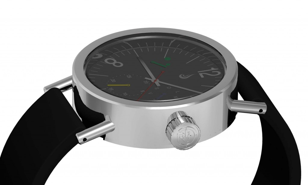 Prometheus RLJ02 Bauhaus Watch Project for Relojistas.com Black Dial Render