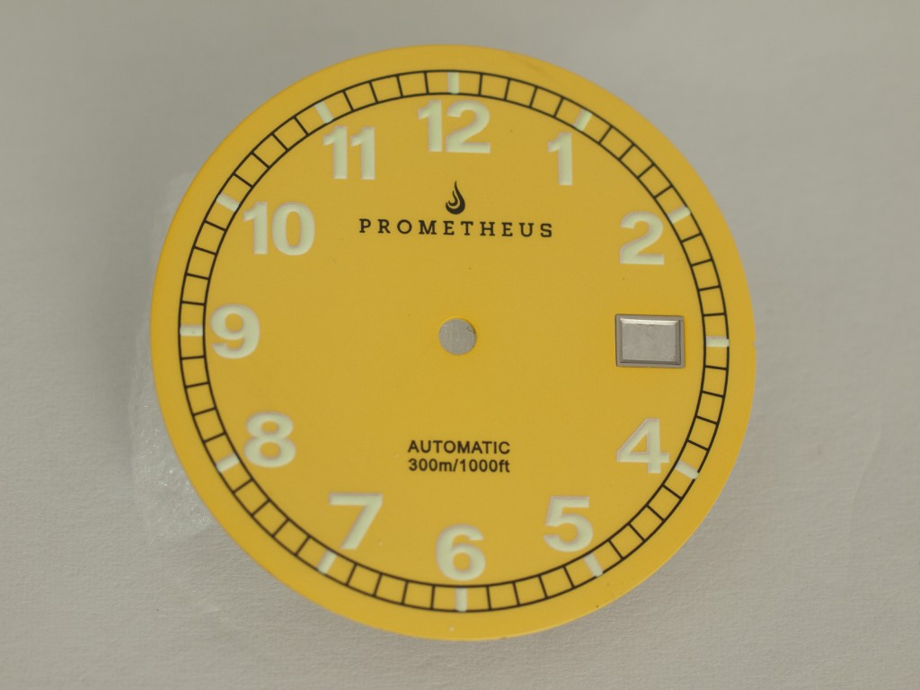 Prometheus Sailfish Prototype Yellow Dial